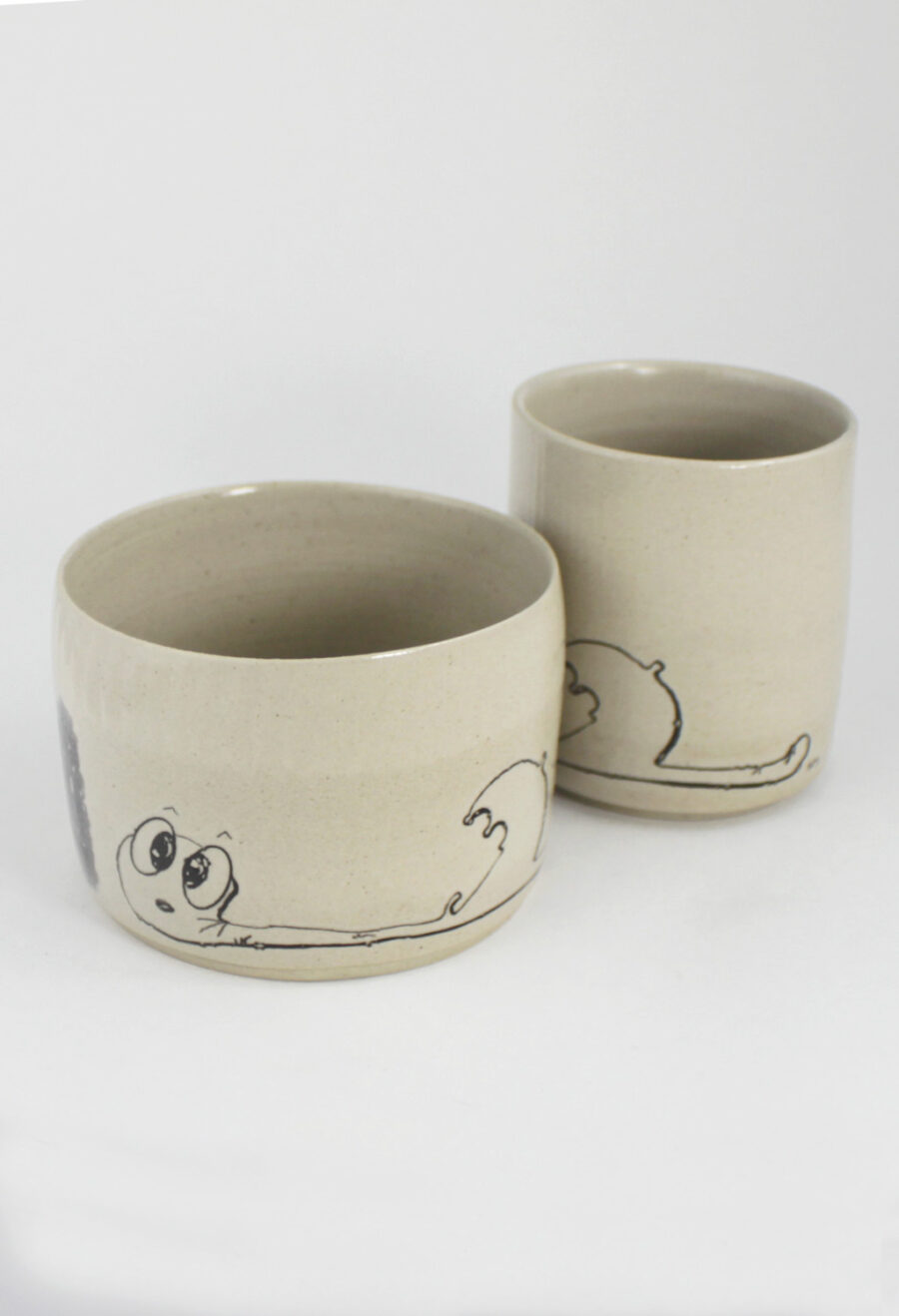 steinzeug im set the-worm-ate-nummer-3-schirm-my-deer-illustrated-ceramics